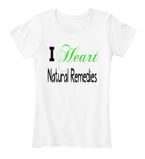 Heart I Natural Remedies White Women's T-Shirt Front