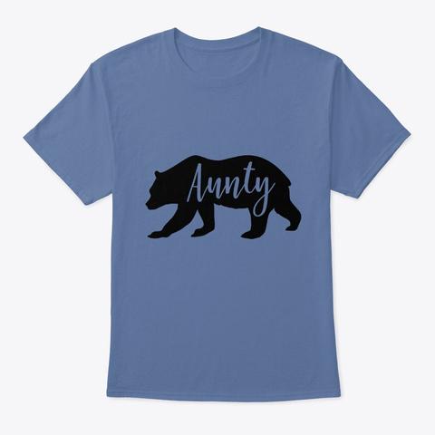 Aunty Denim Blue T-Shirt Front