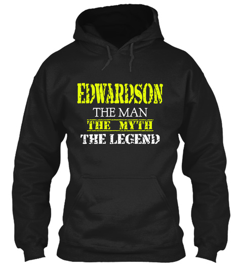 Ed War Dson The Man The Myth The Legend Black T-Shirt Front