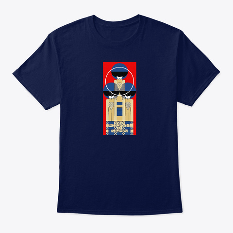 Vienna Secession Poster By Koloman Moser Navy T-Shirt Front