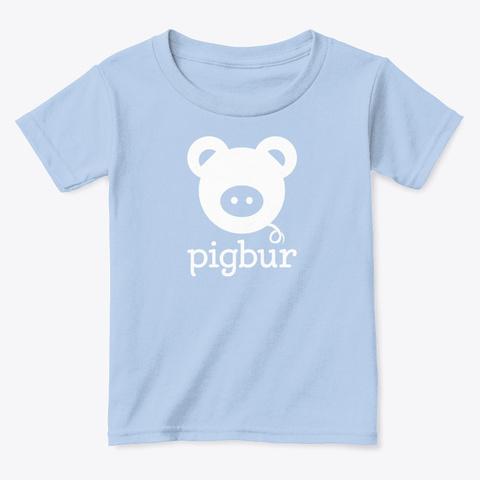 Pigbur Short Sleeve Tee W/White Light Blue T-Shirt Front