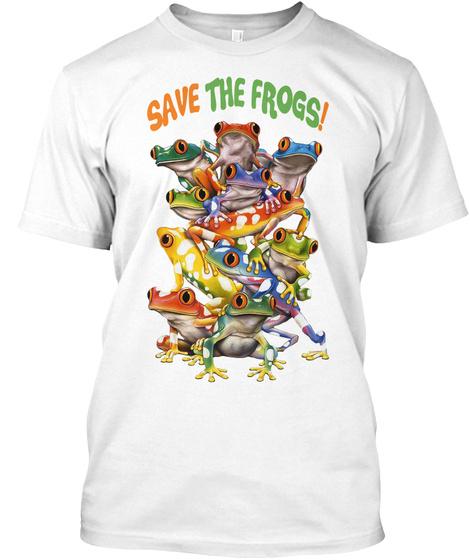 Frog Frog Art 32 White T-Shirt Front