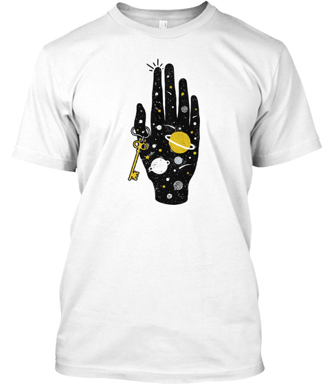 Key To The Universe White T-Shirt Front