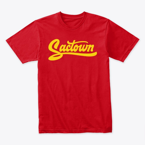 Sactown   Moneyball Gold Red T-Shirt Front