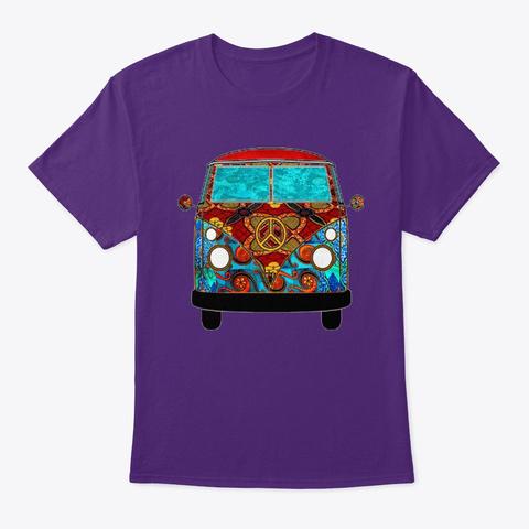 Red Tropic Van Purple T-Shirt Front