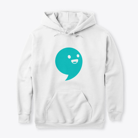 Commaful Light Hoodies White T-Shirt Front