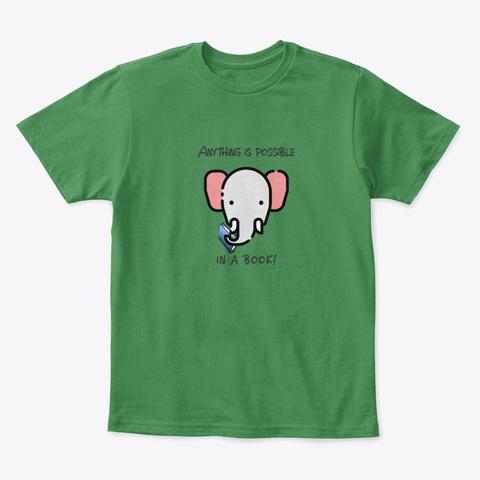 Elephant Reader Kelly Green  T-Shirt Front