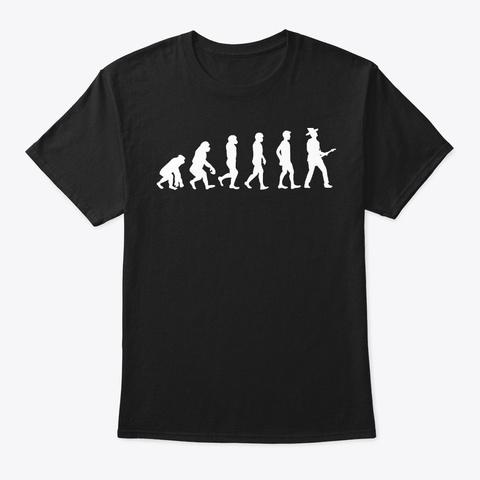 Guitarist Evolution Guitar Band Player Black T-Shirt Front