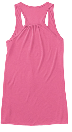 Will Run For Ice Cream Tank Tops Neon Pink Women's Tank Top Back