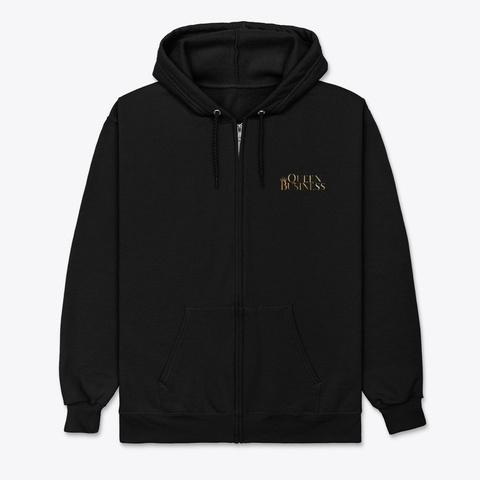 Queen Business Black T-Shirt Front