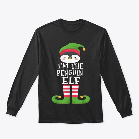 Penguin Lover's Family Matching Christma Black T-Shirt Front