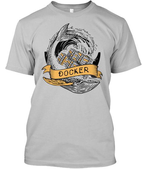 Docker Print From Cards (Eu) Sport Grey T-Shirt Front