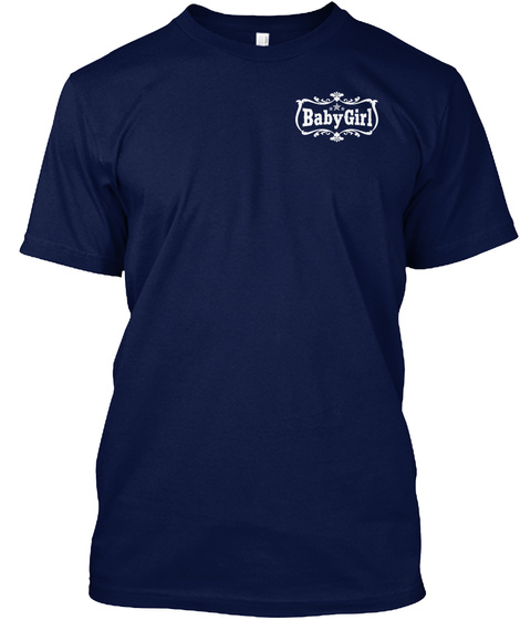 Babygirl Navy T-Shirt Front