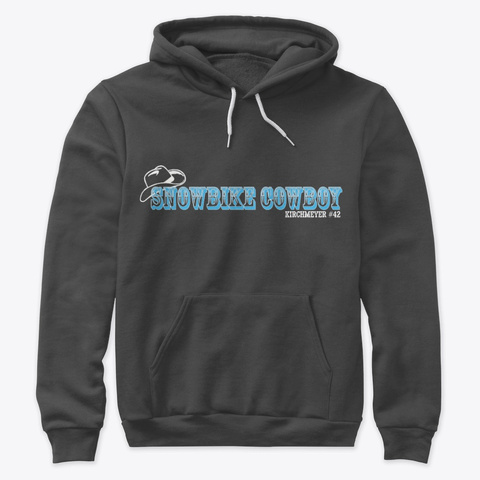 Cowboy Hat Hoodies Dark Grey Heather T-Shirt Front