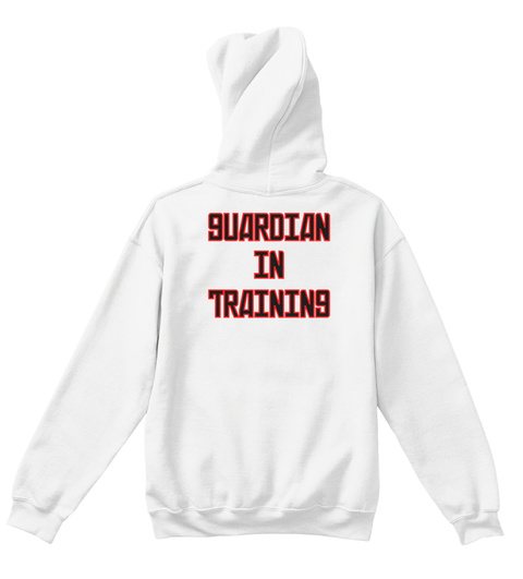 Guardian In Training White T-Shirt Back