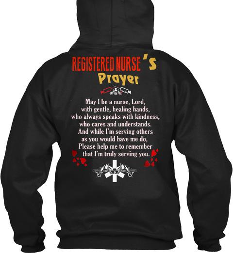 Rn   Nurse   Registered Nurse   204 Black T-Shirt Back