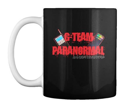 G Team Paranormal Investigators Black T-Shirt Front