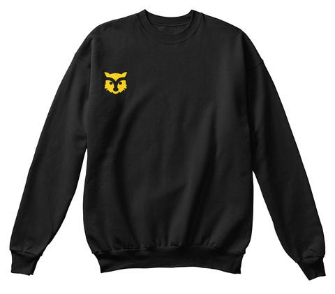Fox Sweatshirt Black Suéter Front