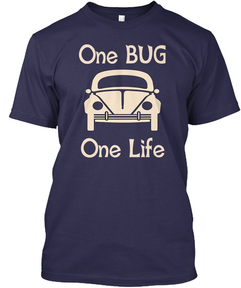 One Bug One Life Navy T-Shirt Front