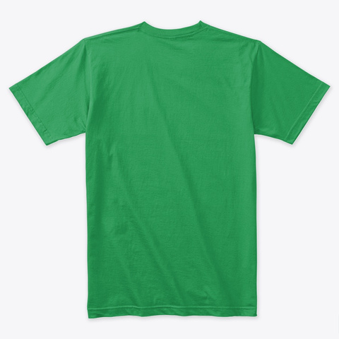 Christmas Shirt Kiss Me I'm Santa Claus  Kelly Green T-Shirt Back