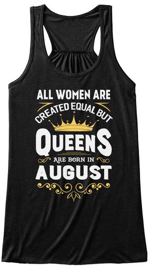 Queens Are Born In August Tank Top Black Women's Tank Top Front