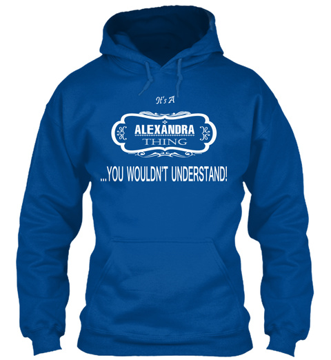 Alexandra Name Tshirt Royal T-Shirt Front