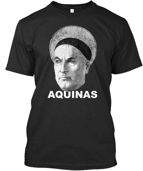 Aquinas Black T-Shirt Front