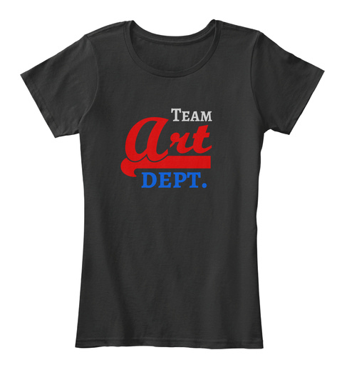 Team Art Dept. Black T-Shirt Front