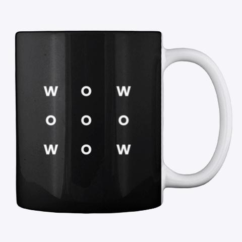 Mug: Wow Black T-Shirt Back
