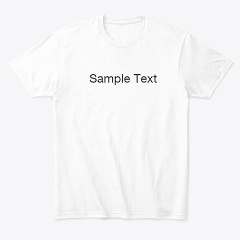 white t shirt sample