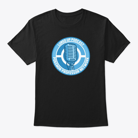 Lured Up Podcast Spin Logo Black T-Shirt Front