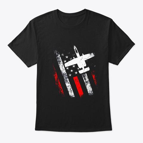 American Flag A 10 Vintage T Shirt July Black T-Shirt Front