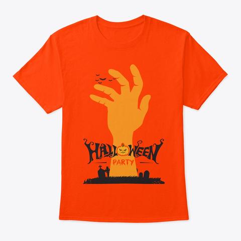 Halloween New Tshirt Orange T-Shirt Front