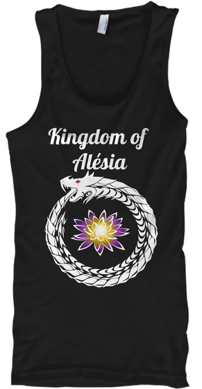 Kingdom Of  Alésia Black Tank Top Front