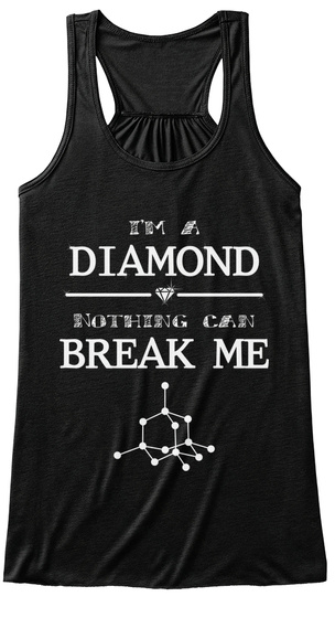 I'm A Diamond Nothing Can Break Me Black Women's Tank Top Front