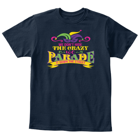 Little Bears: Mardi Gras Party New Navy T-Shirt Front