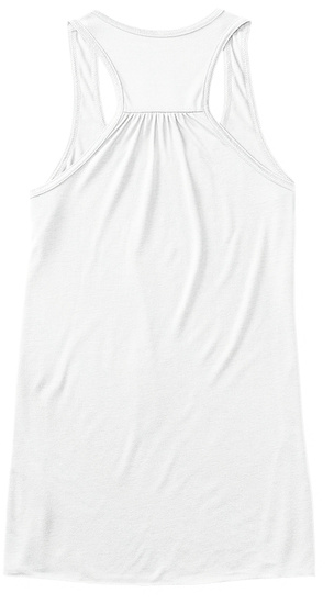 Top Tank Yoga Shirts  White T-Shirt Back