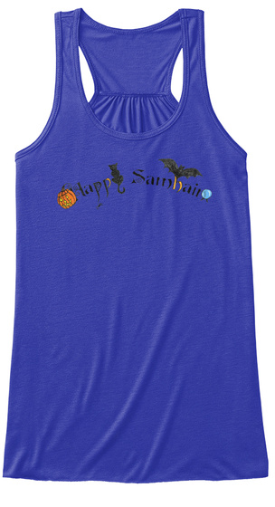 Happy Samhain Words True Royal T-Shirt Front
