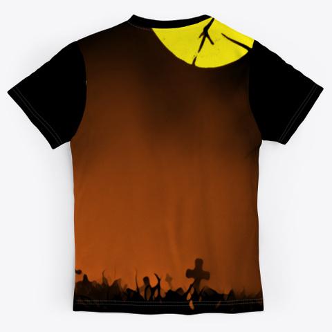 Halloween  Jack O Lantern | Graveyard Black T-Shirt Back