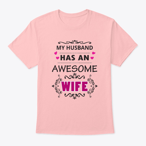 Awesome Wife Pale Pink T-Shirt Front