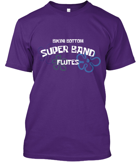 Bikini Bottom Flutes Purple T-Shirt Front