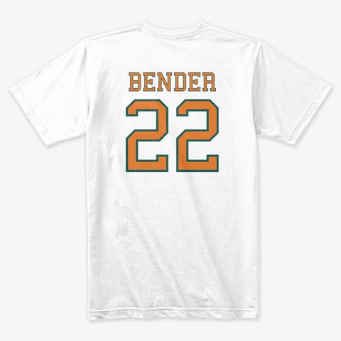 Bender White  Jersey Tee White T-Shirt Back