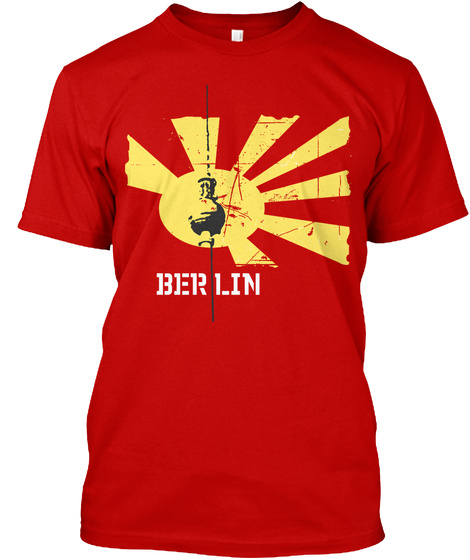 Berlin Classic Red T-Shirt Front