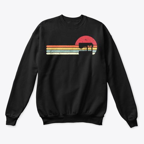 Sewing Machine Shirt Retro Style Shirts Black T-Shirt Front