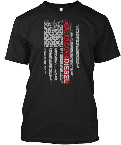 Duramax Diesel America Flag Black T-Shirt Front