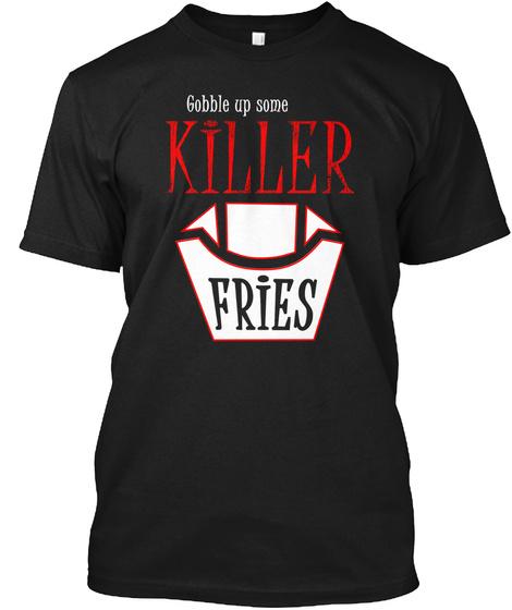 Killer Fries Literary Lover Black T-Shirt Front