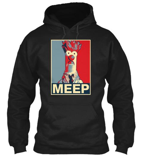 Meep Black T-Shirt Front