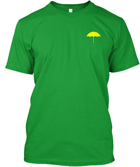 The Yellow Umbrella Kelly Green T-Shirt Front