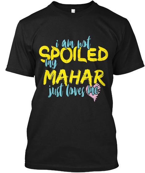Mahar  Black T-Shirt Front