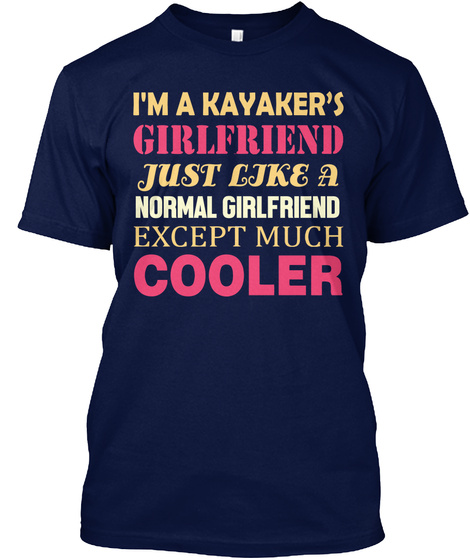 Kayak Lover Gifts T Shirts Navy T-Shirt Front